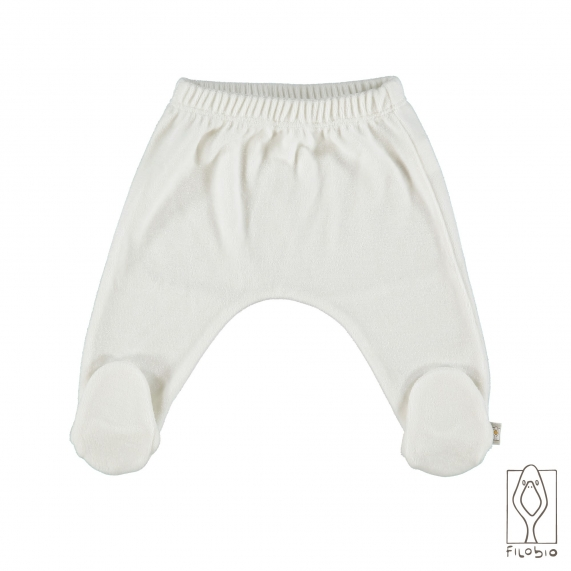baby footed pant in organic cotton