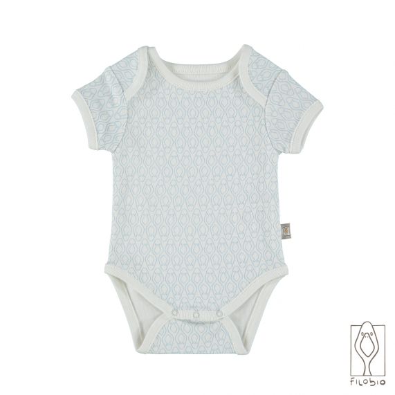 Baby body suit organic cotton natural color print