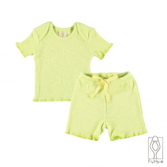 """""""Holiday"""" baby two piece in organic cotton"""