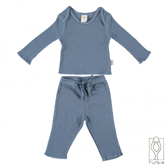 """""""Summer Duo"""" baby two piece long sleeve in organic cotton"""
