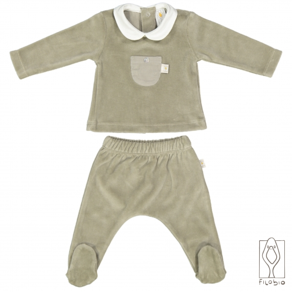 Long sleeves baby T-shirt in organic cotton
