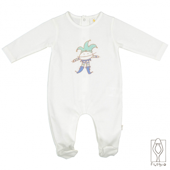 Onesie with embroidery - organic cotton