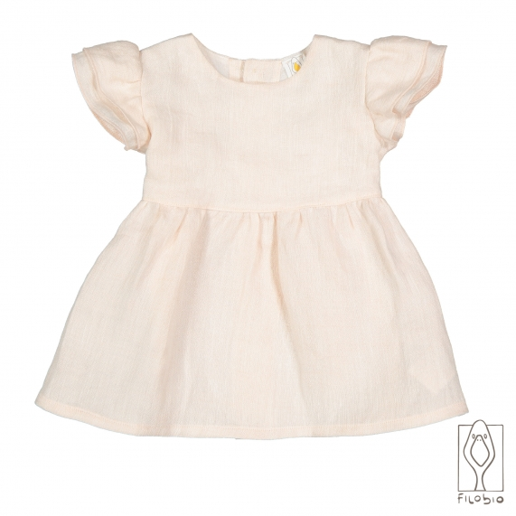 Baby Dress with ruffles in organic cotton