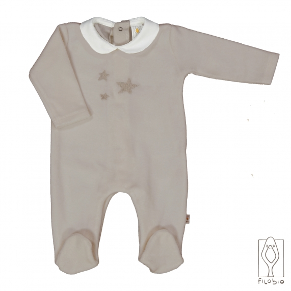 Organic cotton Baby onesie with stitching