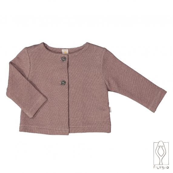 Baby jacket in organic cotton