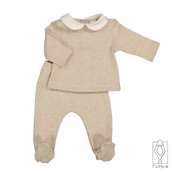 Two pieces baby set in pure cotton