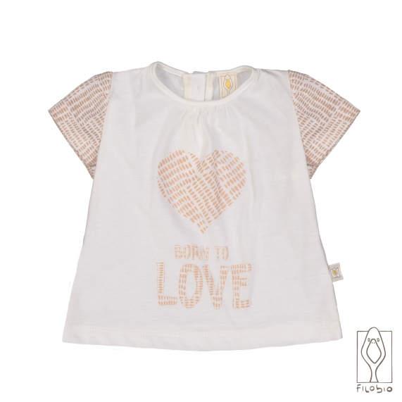 Baby girl T-shirt in organic cotton