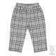 Baby girl trousers in cotton flannel
