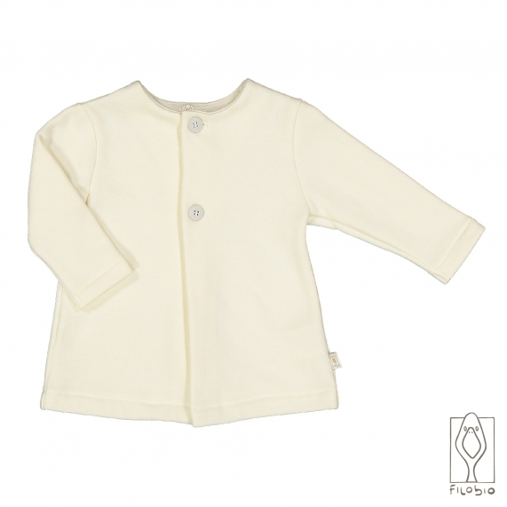 Baby girl coat in organic cotton