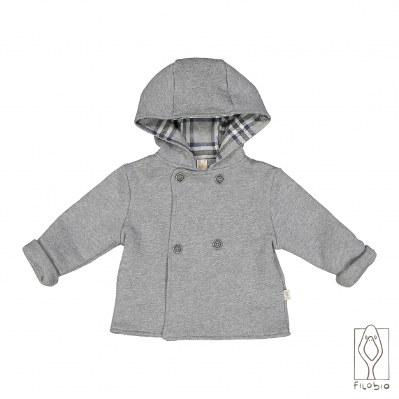 Hooded padded baby jacket