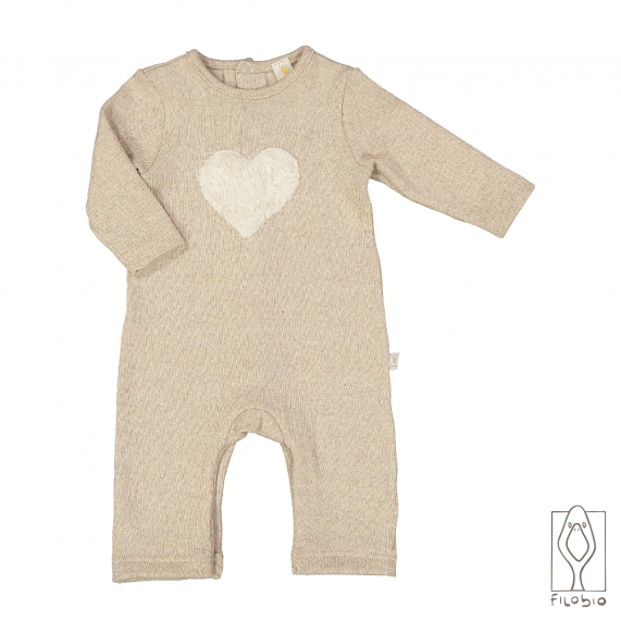knitted fabric baby onesie
