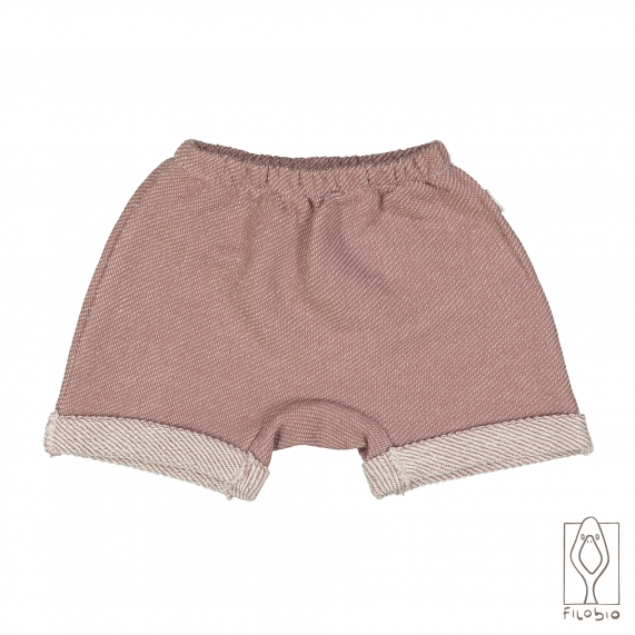 Shorts for baby and toddler in organic fleece