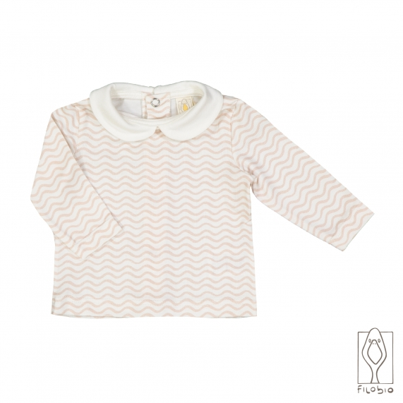 Long sleeves baby T-shirt with collar