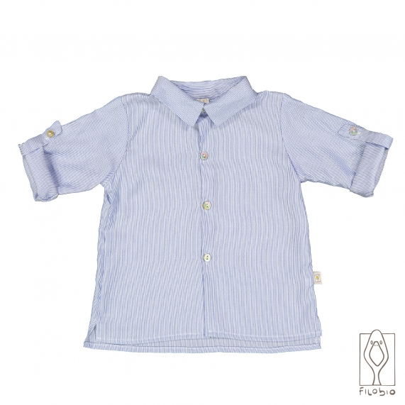 Camicia bimbo con colletto in calda flanella