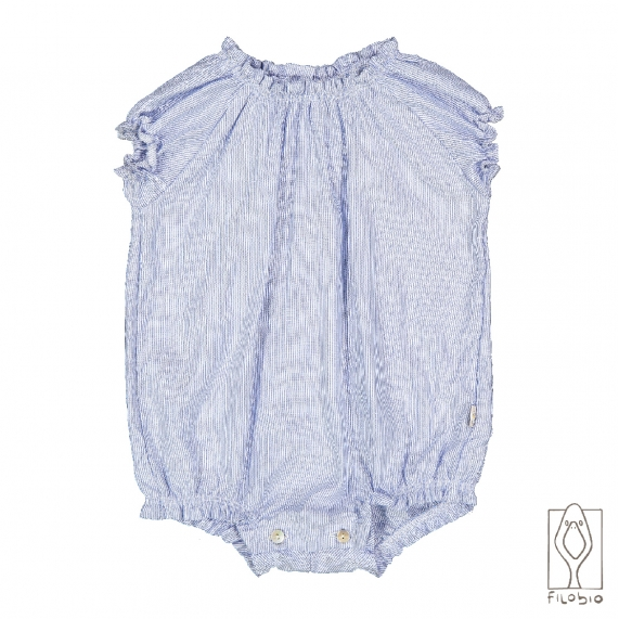 Baby girl sleeveless rompers in pure linen