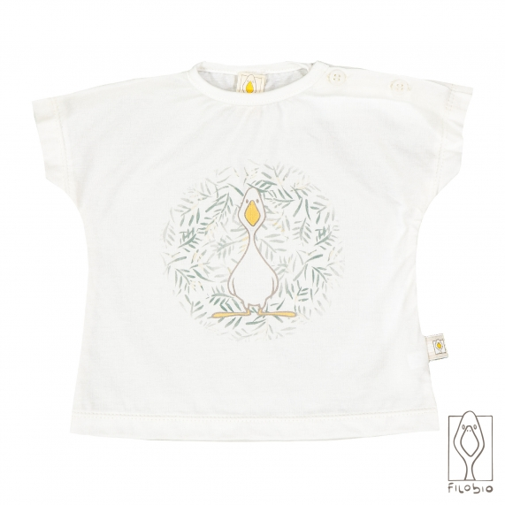 Baby T-shirt in organic cotton with print