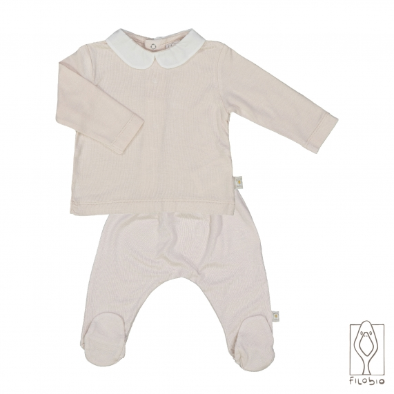 Set pant + T-shirt long sleeve in pure bamboo