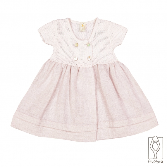 baby girl dress in cotton and linen
