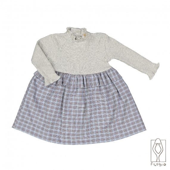 Baby girl dress in organic cotton