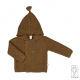 Baby hooded jacket in pure Merino wool