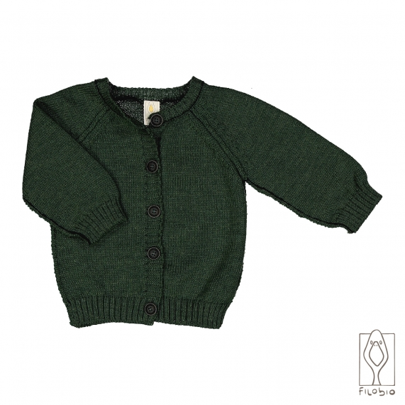 knit baby Cardigan in pure wool