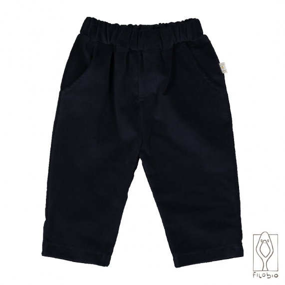 Baby trousers in pure cotton velvet