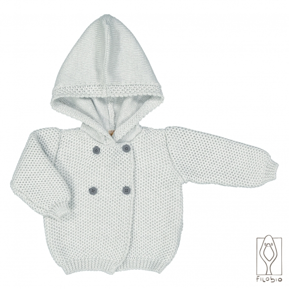 Baby Cashmere hooded jacket