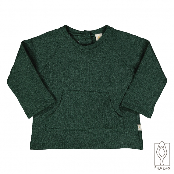Baby sweater with big pocket
