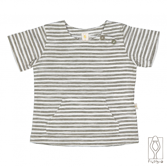 T-shirt in striped cotton