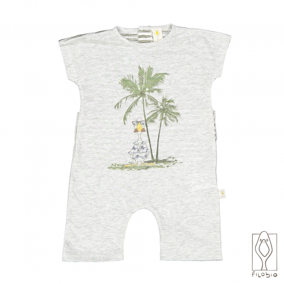 Baby rompers short sleeve in organic cotton